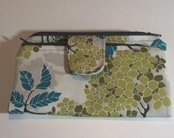 fold wallet-2 zippers