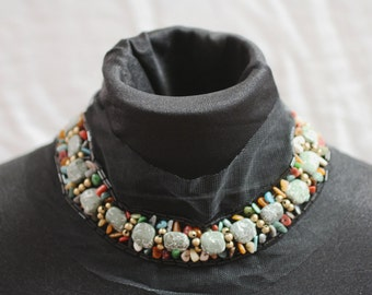 Semi-Precious Beaded Fashion Collar - JR09272