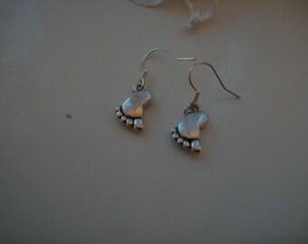 Little feet earrings