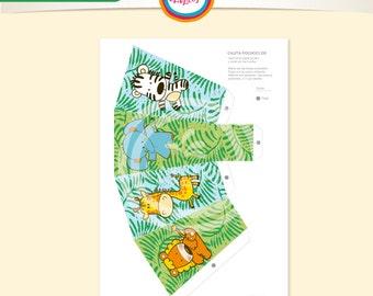 Box Pochoclera animal jungle