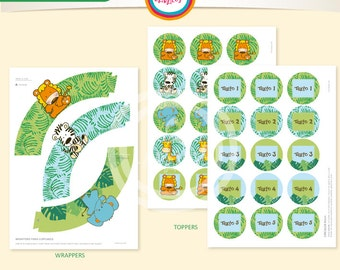 Wrappers and toppers animals jungle