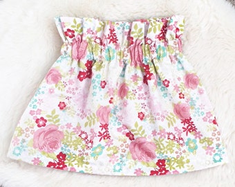Kinsley high waisted floral skirt
