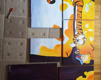 Calvin and Hobbes 6 Piece Painting