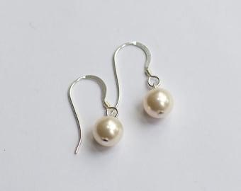 Kate Earrings - Swarovski Pearl & Sterling Silver