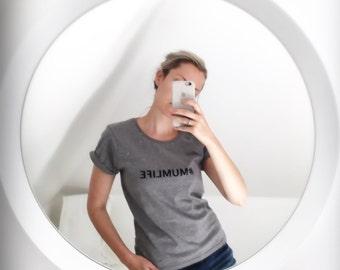 Women's Organic, Climate Neutral and Fair Wear Jersey T-Shirt (#INSTAMUM #MUMLIFE or CUSTOM)