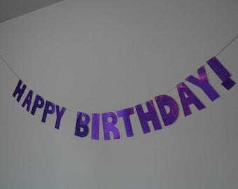 HAPPY BIRTHDAY BANNER (Purple)