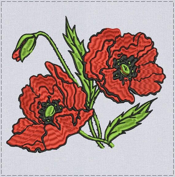 Poppies Machine embroidery design