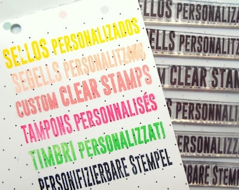 Sheets of custom acrylic stamps