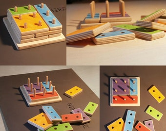 handmade toy puzzle from plywood