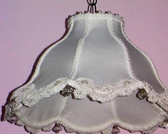 White Satin lamp shade