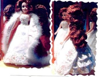 "Christmas Ball pattern for 19"" doll fashion."