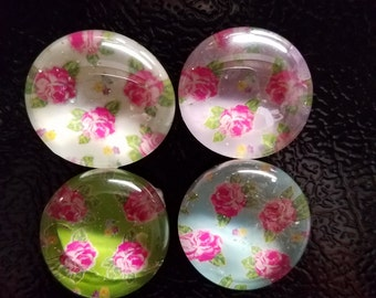 Roses Marble Magnets