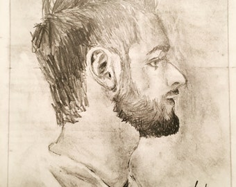 Custom Hand Drawn Portrait