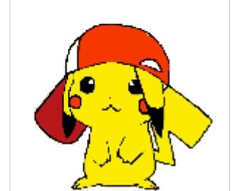 Cute Pikachu Cross Stitch Pattern Nintendo Design Custom Pokemon