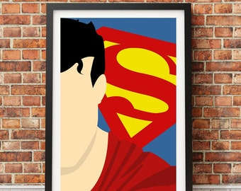 Superman - Minimalist film poster - Unique art print A4/A3 (introductory offer)