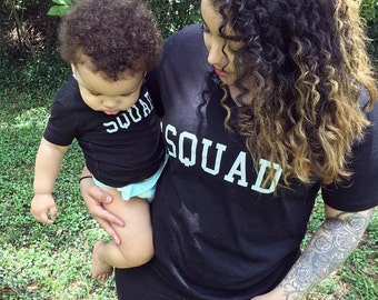 SQUAD! Mommy & me matching tee