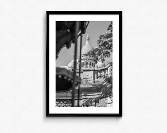 Basilique du Sacré-Cœur / Montmartre / Paris / France / Black and White / Decoration / Photo Frame / Fine Art