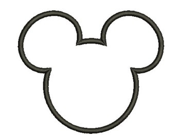 11 size-Mickey-Mouse-Ears-Applique Embroidery  Design -INSTANT DOWNLOAD