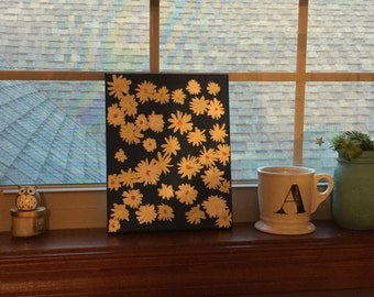 Abstract Daisy Painting