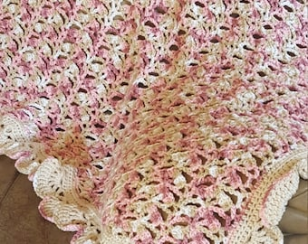 Pink Ice cream cone baby blanket