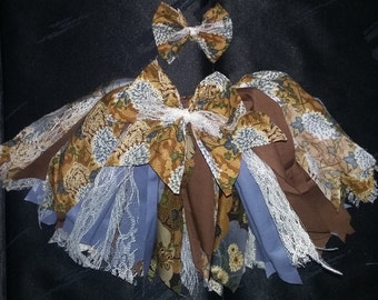 Antique rag skirt
