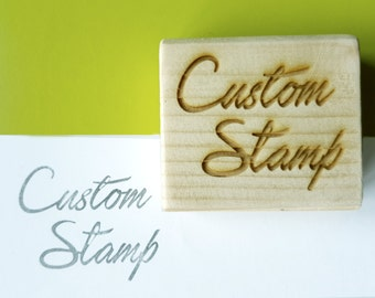 Custom stamp, laser cutting, with custom logo, Brand stamp, company stamp, customizable, custom , 6 x 4 cm