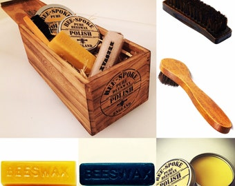 Traditional Beeswax Shoe Polish Kit