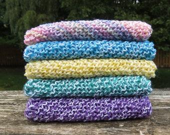 Hand-knit cotton dishcloths