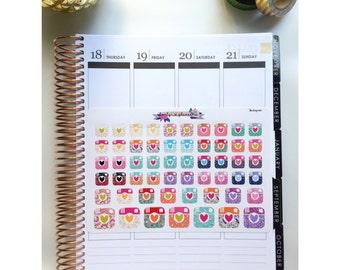 Instagram stickers, camera stickers, Instagram planner sticker, camera planner sticker, planner stickers