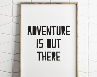 adventure nursery wall decor, adventure is out there, nursery wall decor, nursery decor, printable nursery art