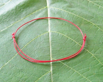 Kabbalah. Red String Anklet. Good Luck Anklet. Kabbalah. Adjustable. Dainty. Made in Canada.
