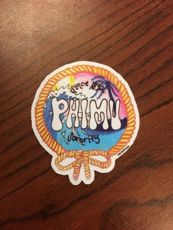 Phi Mu Beach Sticker