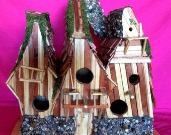 Dehalia House Bird House by Sonoran Art, Fabulous 4 hole Bird House hand made & Sturdy