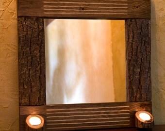 Mirror of wood