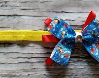 Pinocchio Headband/Pinocchio/Pinocchio Bow/Pinocchio Hair Bow/Baby Girl Headbands/Toddler Headbands/Hair Bows/Character Bows