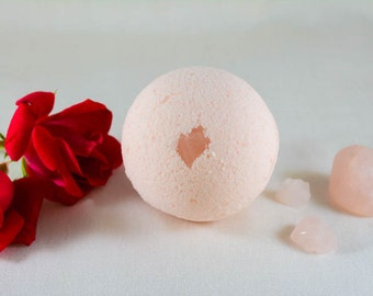 Rose Quartz Bath Bomb~To Bathe in the Energy of Rose Quartz