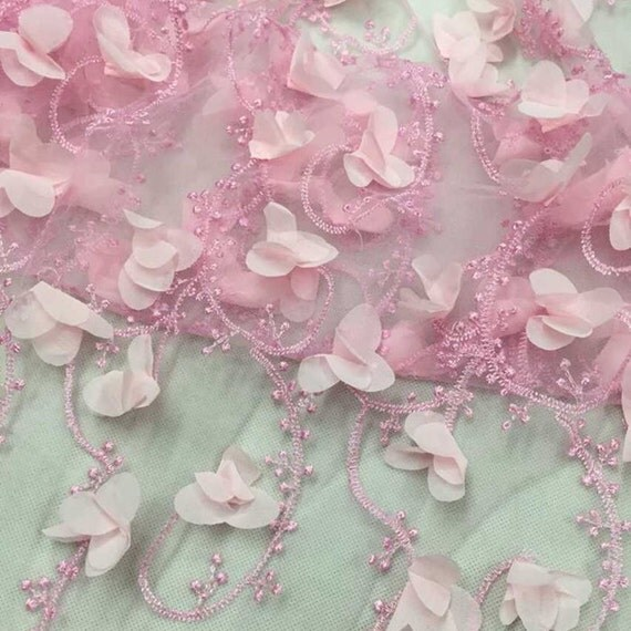 3d Flowers Embroidery Lace Fabric African Lace Fabric For