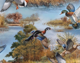 Wild Wings Silver Lake Ducks Fabric From Springs Creative