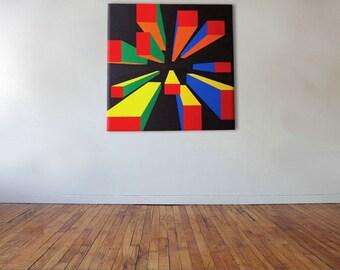 Cuboids To Infinity - Acrylic on canvas - 70cm x 70cm