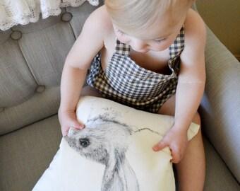 Mr Rabbit Fine Linen Cushion