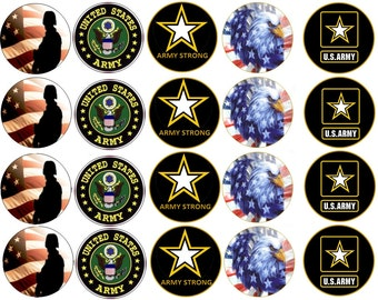 U.S. ARMY Edible Images Cupcake, Cookie Toppers