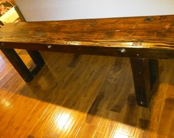 Rustic Furniture Counter height bench