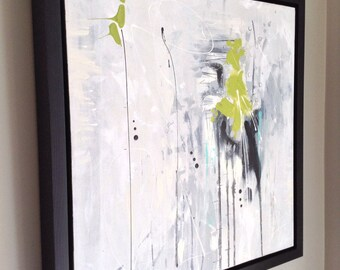 """Contemporary painting abstract on canvas Gallery.  Ideal for gift! Abstract paint on Canvas 20 """"x 20"""" x 1.5"""""""