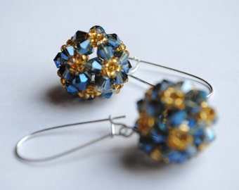 Handmade beaded crystal earrings