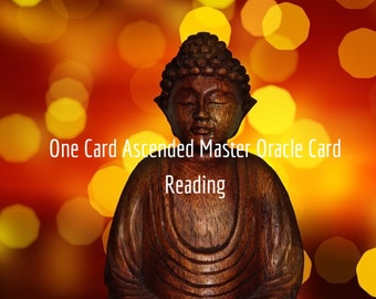 One Card Ascended Master Oracle Reading