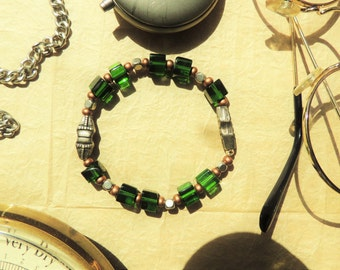 Green Cube Bracelet