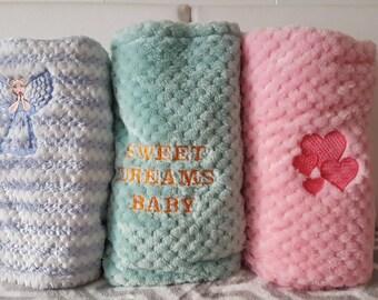 Baby Blanket Fleece Embroiderd