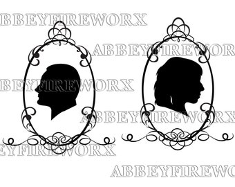 Custom Cameo silhouettes *Print at home*