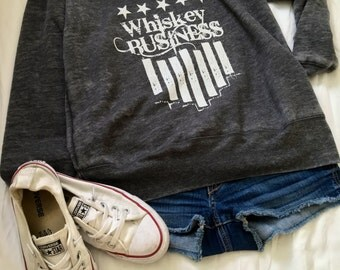 Off the Shoulder Whiskey Business Women's Fleece