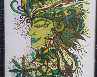 Green Goddess Original A3 size Drawing